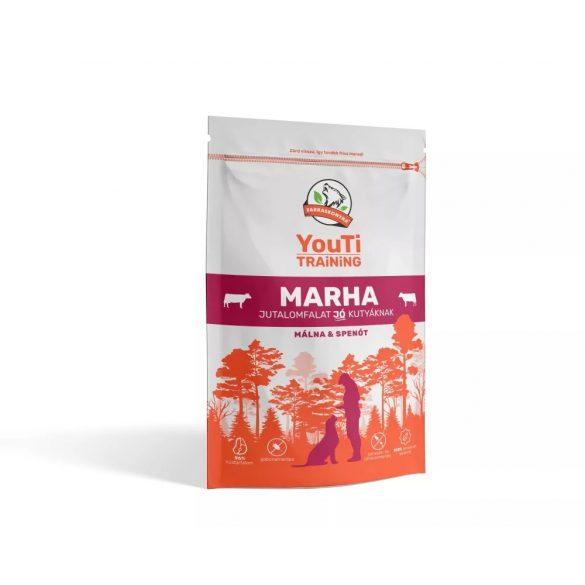 YouTi Training Marha, málna, spenót jutalomfalat 100g